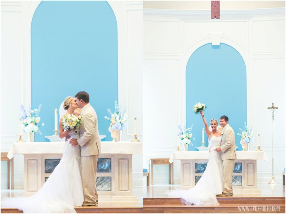 Wedding Ceremony at St. Christopher's Church Stevensville • tPoz Photography •  www.tpozphoto.com