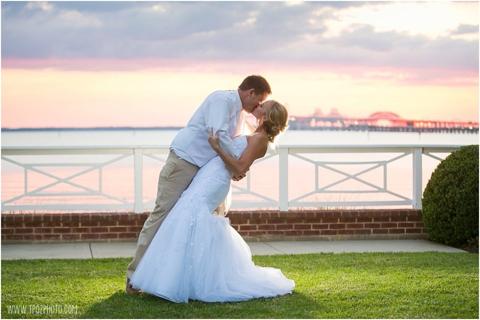 Sunset Wedding at the Chesapeake Bay Beach Club • tPoz Photography •  www.tpozphoto.com