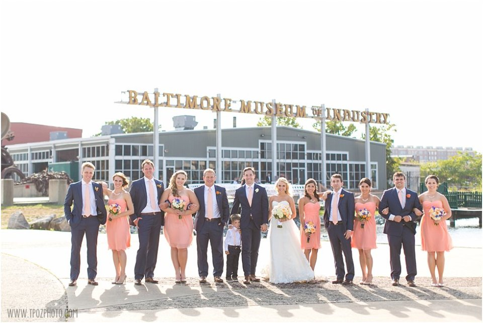 Wedding at Baltimore Museum of Industry •  tPoz Photography •  www.tpozphoto.com