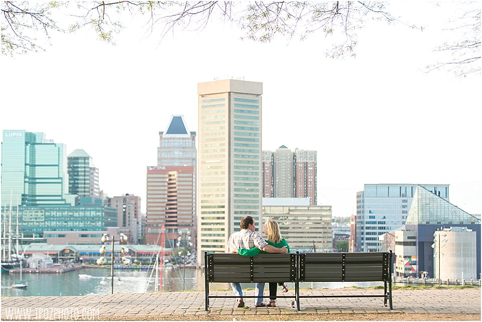Baltimore Inner Harbor Engagement Photos •  tPoz Photography •  www.tpozphoto.com