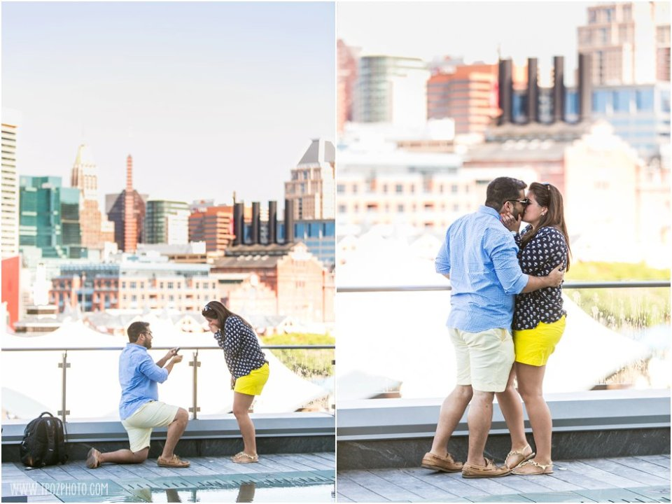 Baltimore Skyline Engagement Proposal •  tPoz Photography •  www.tpozphoto.com