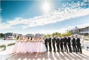 Ocean Pines Yacht Club wedding party