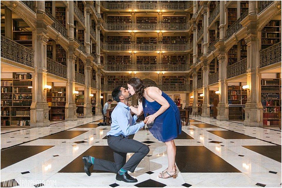 Peabody Library Engagement Proposal || tPoz Photograpy || www.tpozphoto.com