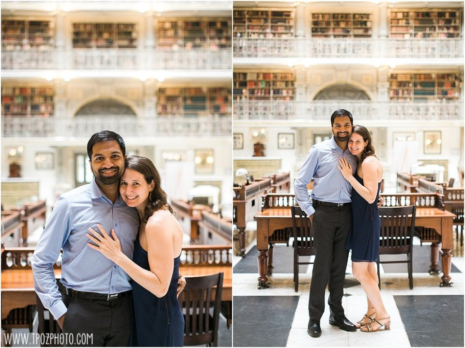 Peabody Library Engagement Proposal || tPoz Photograpy || www.tpozphoto.com