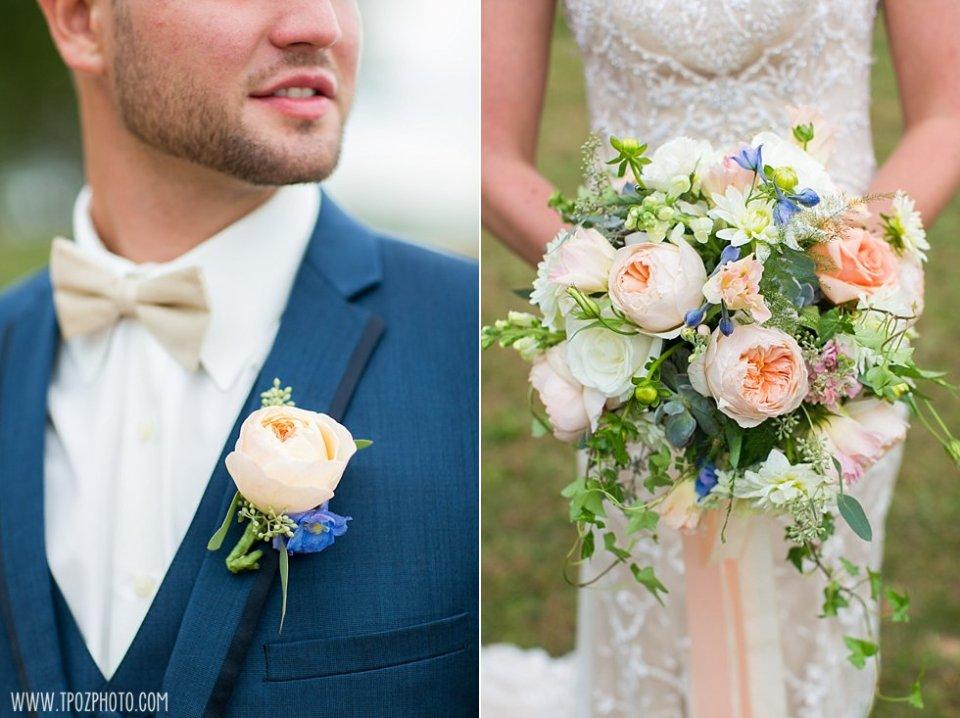 Blush Floral Designs - wedding bouquet and boutonniere . • tPoz Photography • www.tpozphoto.com