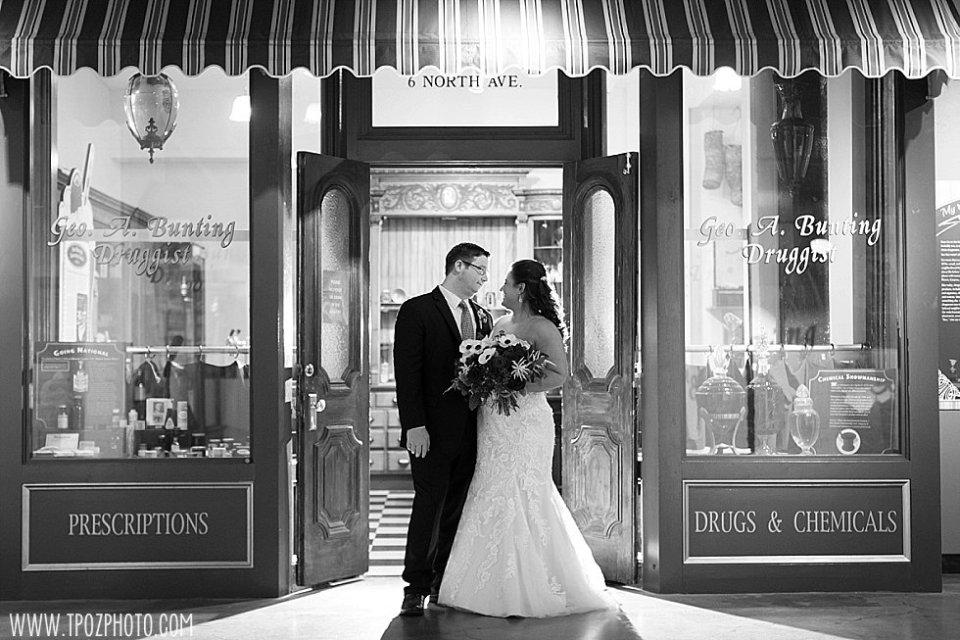 Baltimore Museum of Industry wedding Pharmacy Ice Cream Shop exhibit