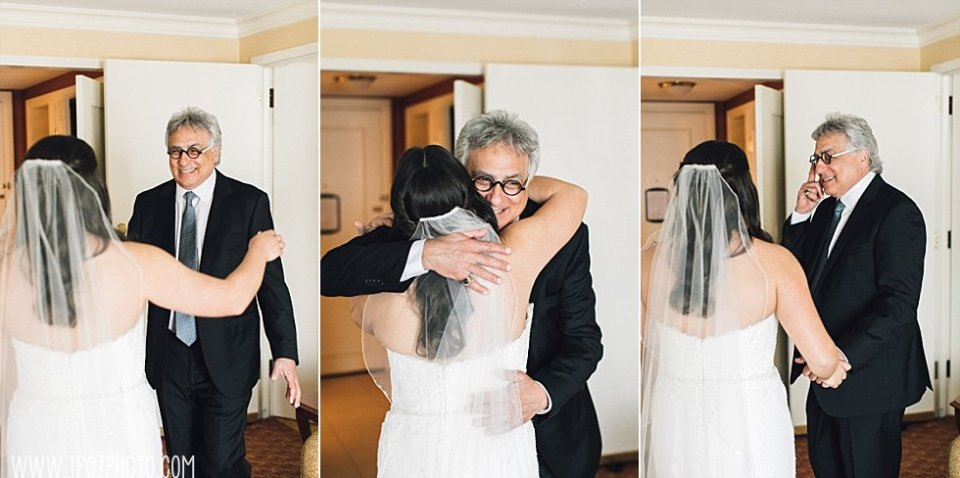 Bride's First Look with her dad || tPoz Photography || www.tpozphoto.com