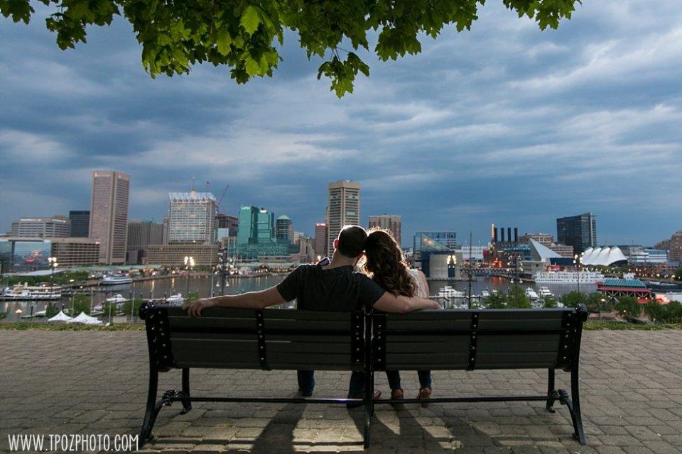 Camden Yards Oriole Park Engagement || tPoz Photography || www.tpozphoto.com