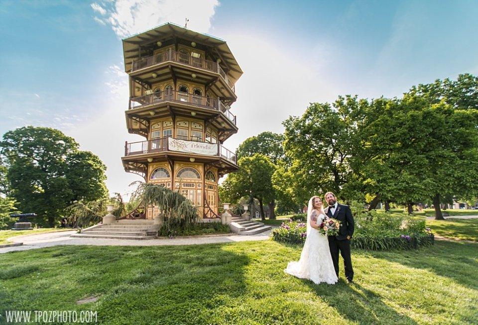 Patterson Park Pagoda Wedding Portraits    tPoz Photography    www.tpozphoto.com