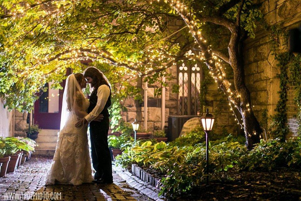 Night portraits backlit at a Chase Court Wedding || tPoz Photography || www.tpozphoto.com