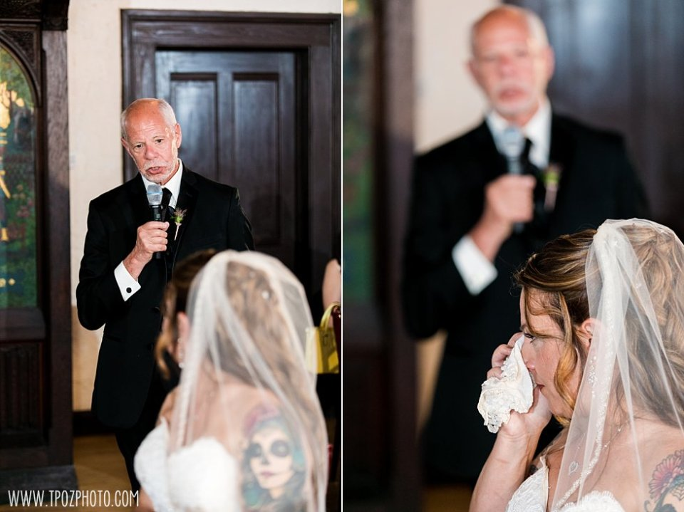 Father of the bride speech at a Chase Court Wedding || tPoz Photography || www.tpozphoto.com