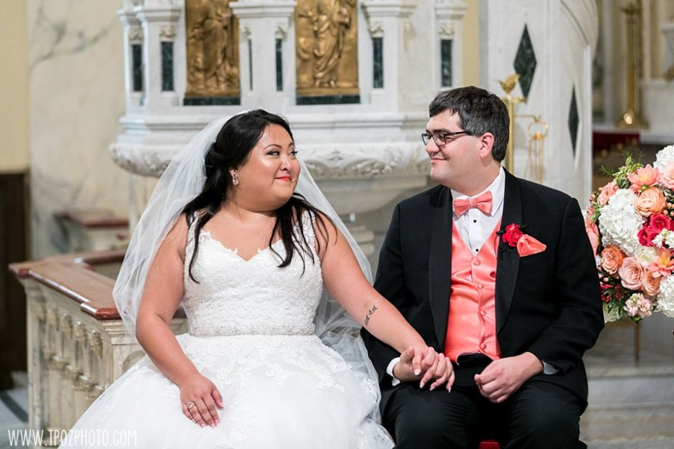 Holy Rosary Church Wedding Ceremony in Washington DC  • tPoz Photography  • www.tpozphoto.com