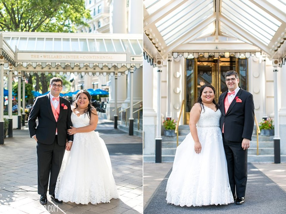 The Willard Intercontinental Hotel Wedding Bride+Groom •  tPoz Photography  •  www.tpozphoto.com
