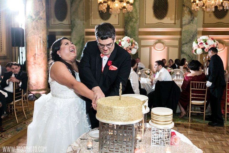Cutting the Cake - Wedding at The Willard Hotel Washington DC  • tPoz Photography  • www.tpozphoto.com