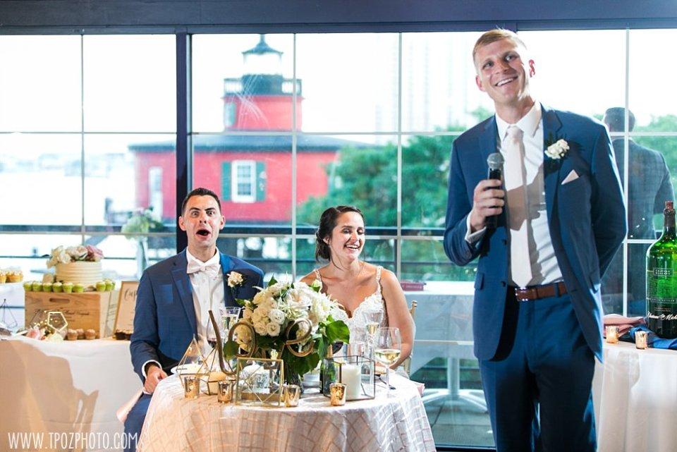 Best Man speech at Pier 5 Wedding • tPoz Photography  •  www.tpozphoto.com
