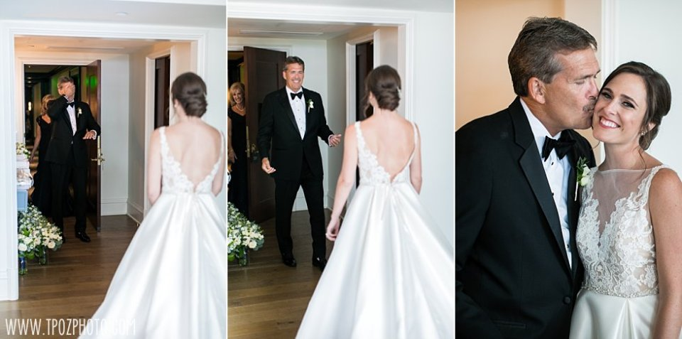 Bride's First Look with Dad • tPoz Photography • www.tpozphoto.com