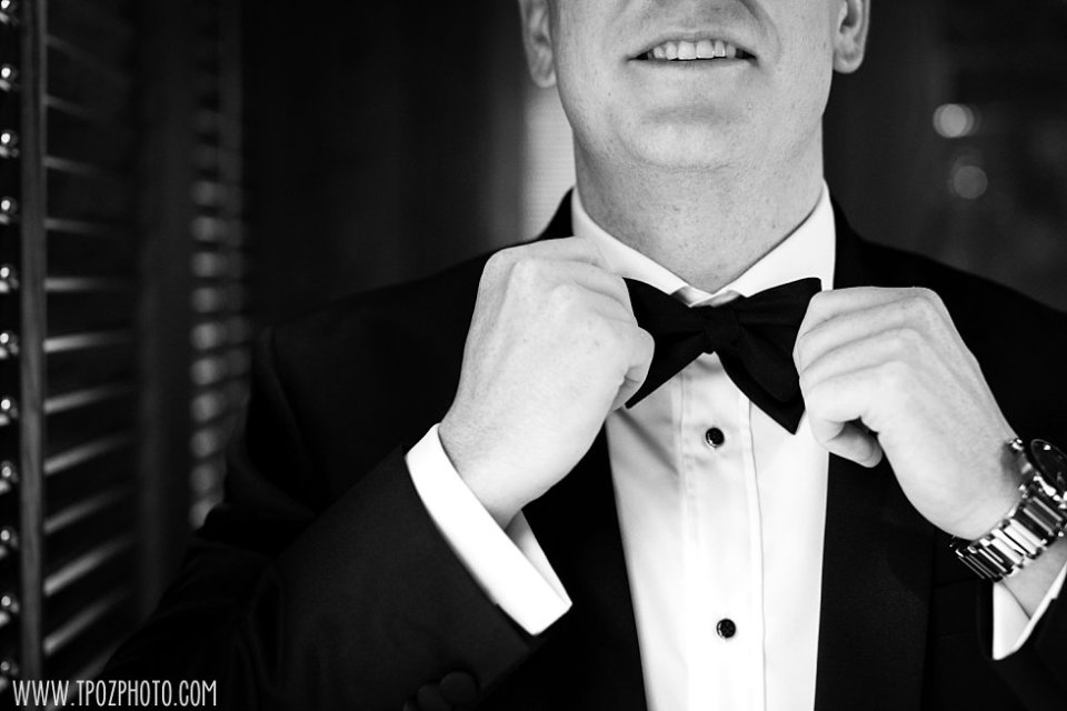 Groom's bow tie •  tPoz Photography • www.tpozphoto.com