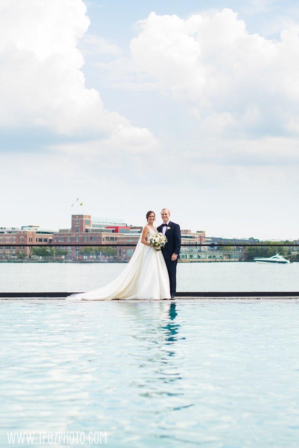 Sagamore Pendry Pool wedding photos bride & groom • tPoz Photography • www.tpozphoto.com