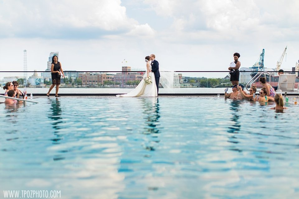 Sagamore Pendry Wedding Pool photos •  tPoz Photography • www.tpozphoto.com