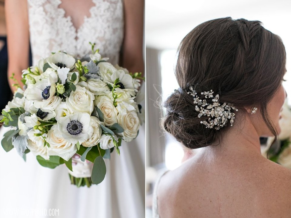 Anemone and roses wedding bouquet • tPoz Photography • www.tpozphoto.com