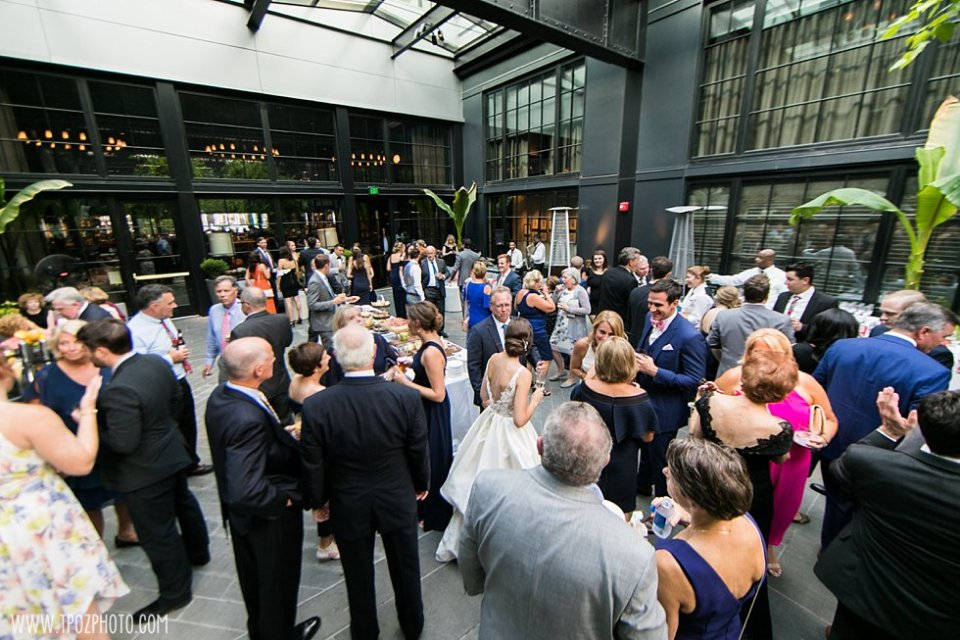 Cocktail Hour in the Courtyard at the Sagamore Pendry  • tPoz Photography •  www.tpozphoto.com