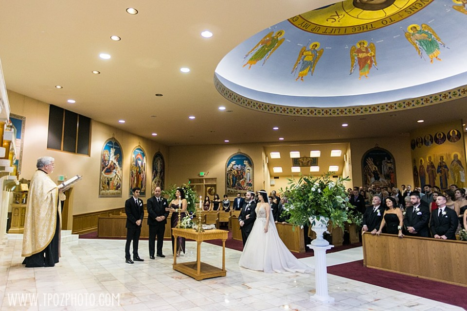 St. Demetrios Greek Orthodox Church wedding ceremony •tPoz Photography  •www.tpozphoto.com