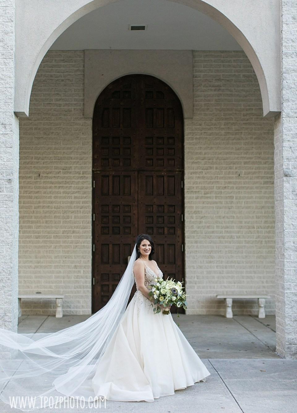 Beautiful bride at her St. Demetrios Greek Orthodox Church wedding  •tPoz Photography  •www.tpozphoto.com