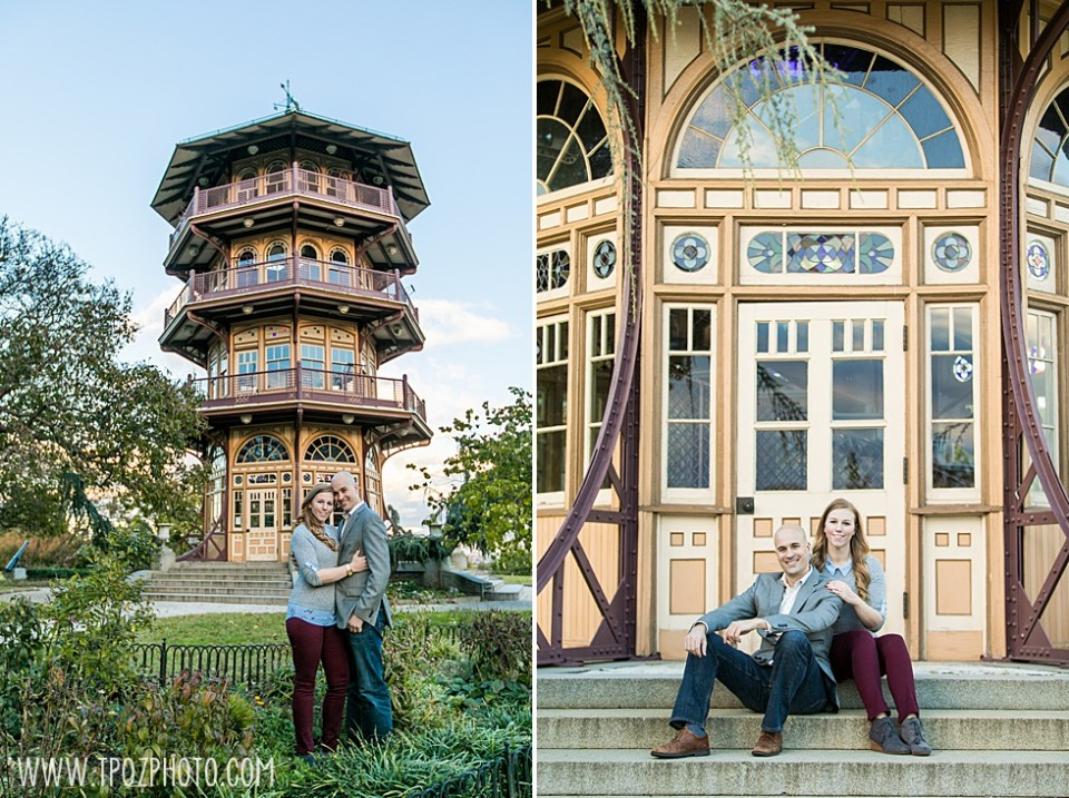 Patterson Park Pagoda Engagement Session • tPoz Photography  •  www.tpozphoto.com