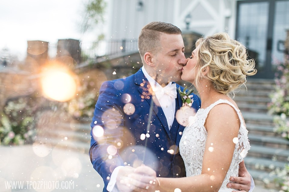 Rosewood Farms Wedding Sparklers Bride and Groom  •  tPoz Photography  •  www.tpozphoto.com