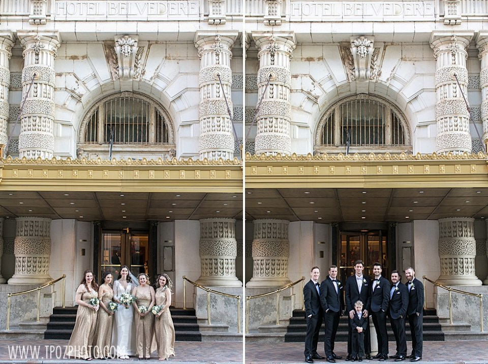 Wedding Party portraits at the Belvedere  •  tPoz Photography •  www.tpozphoto.com