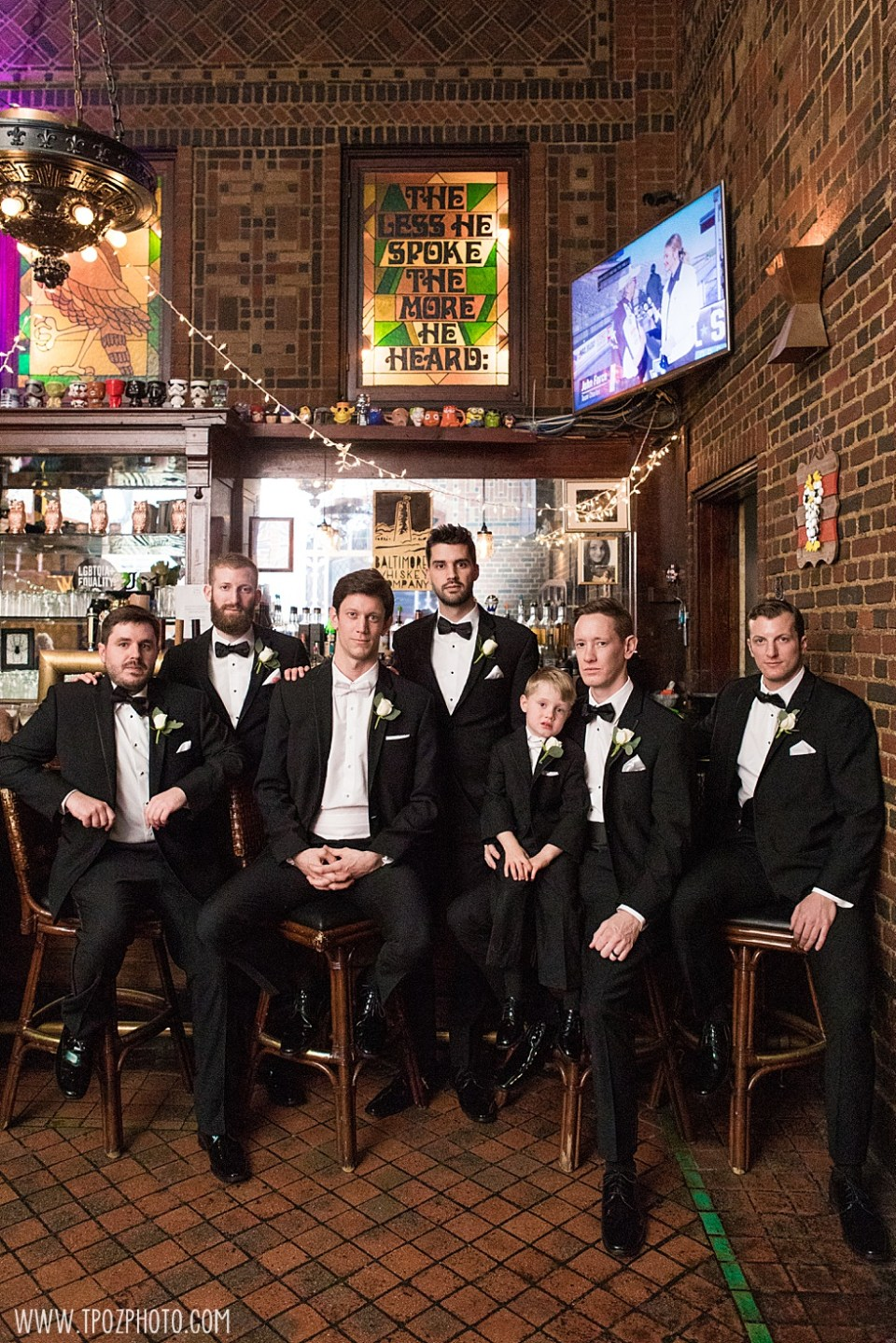 Groomsmen at the Owl Bar  •  tPoz Photography •  www.tpozphoto.com
