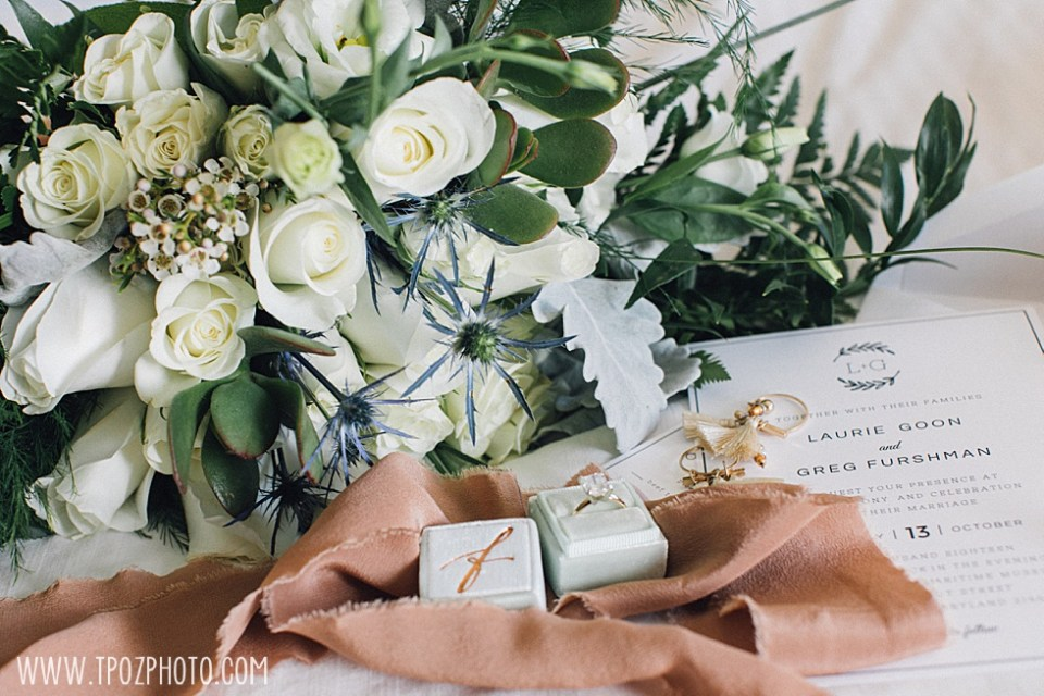 wedding bouquet vignette