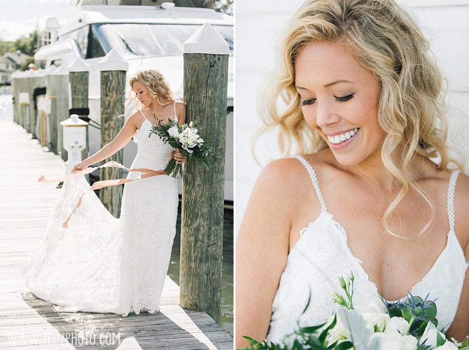 bride at St Michaels Harbor Inn