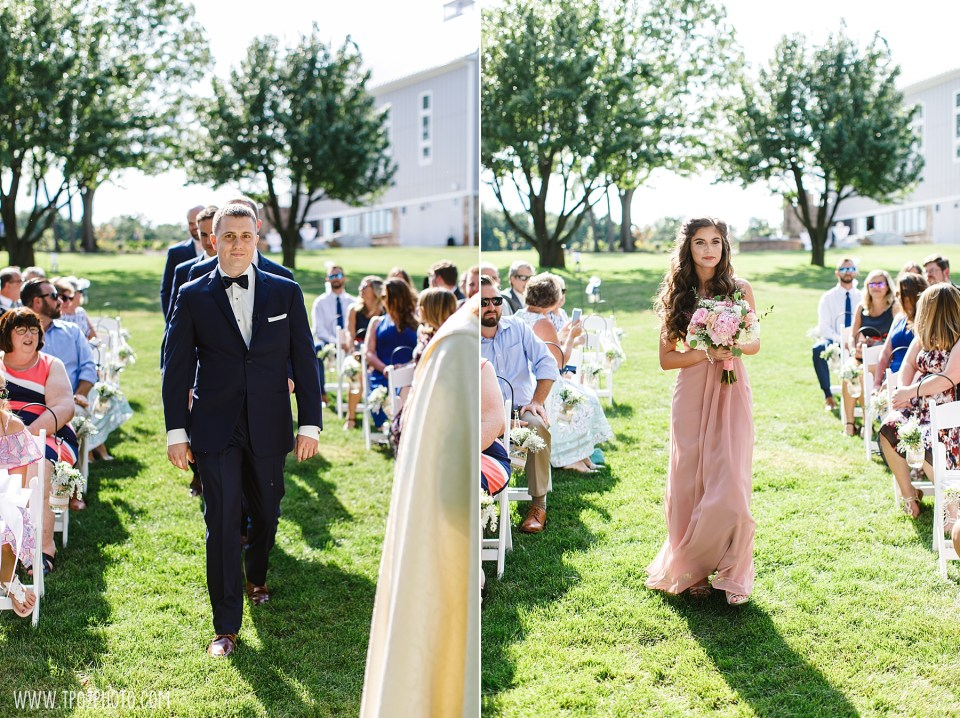 Wedding Ceremony at Rosewood Farms - Maryland Wedding Photographer