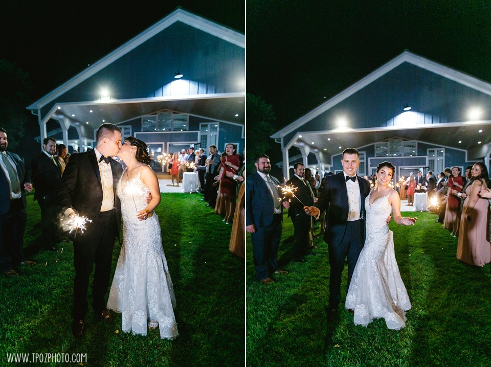 Rosewood Farms sparkler exit