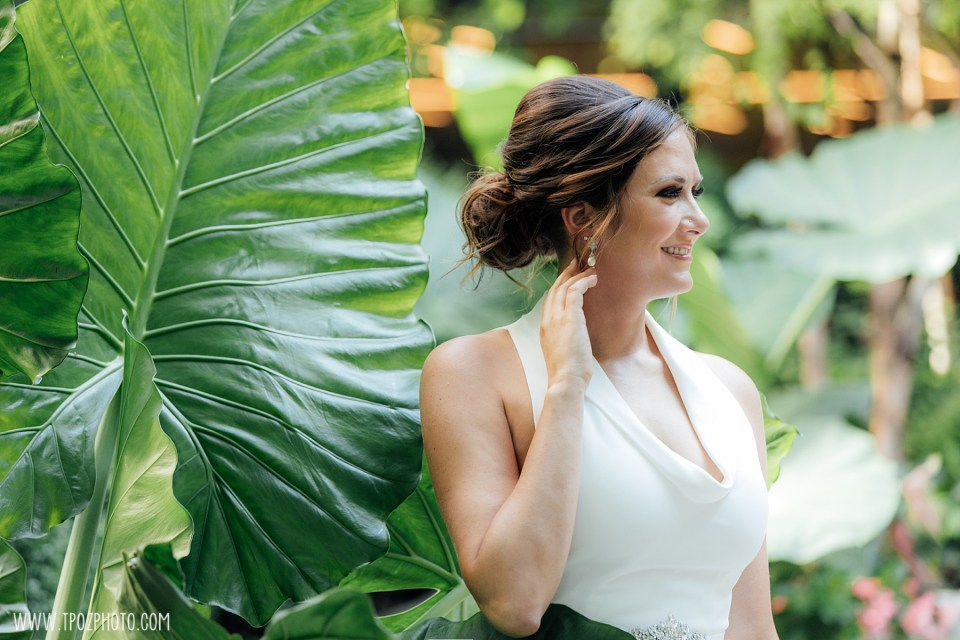 bride in wedding dress at Sagamore Pendry Hotel