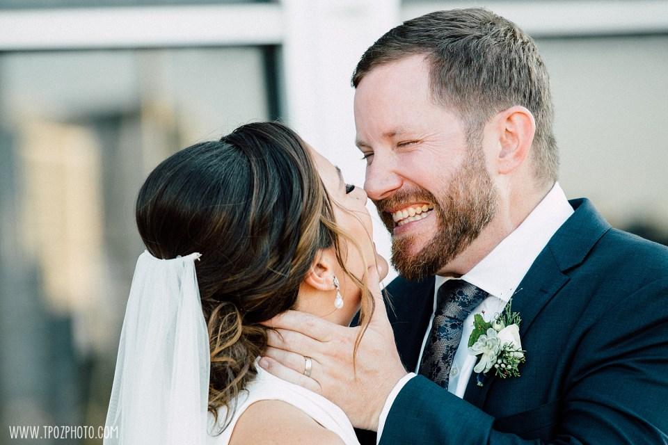 bride and groom's summer BMI wedding