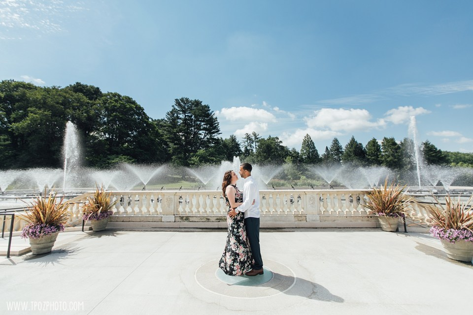 Longwood Gardens Engagement Session at the Main Fountain Garden