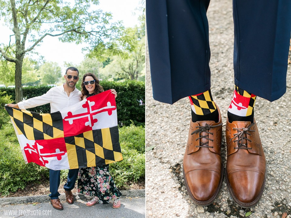 Maryland Flag Engagement Session and socks
