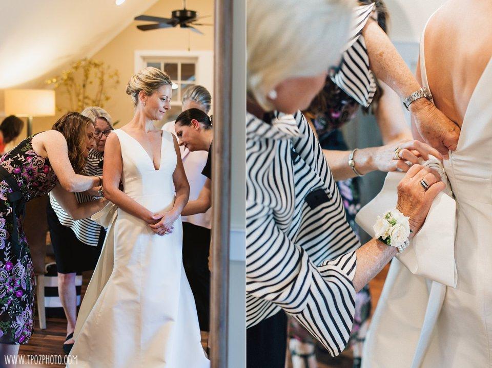 Bride getting ready at the Inn at Chesapeake Bay