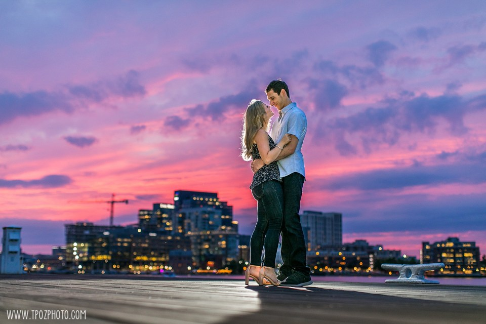 Tide Point Sunset engagement session