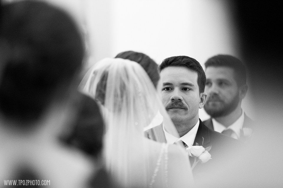 Groom at a Baltimore Basilica Wedding Ceremony