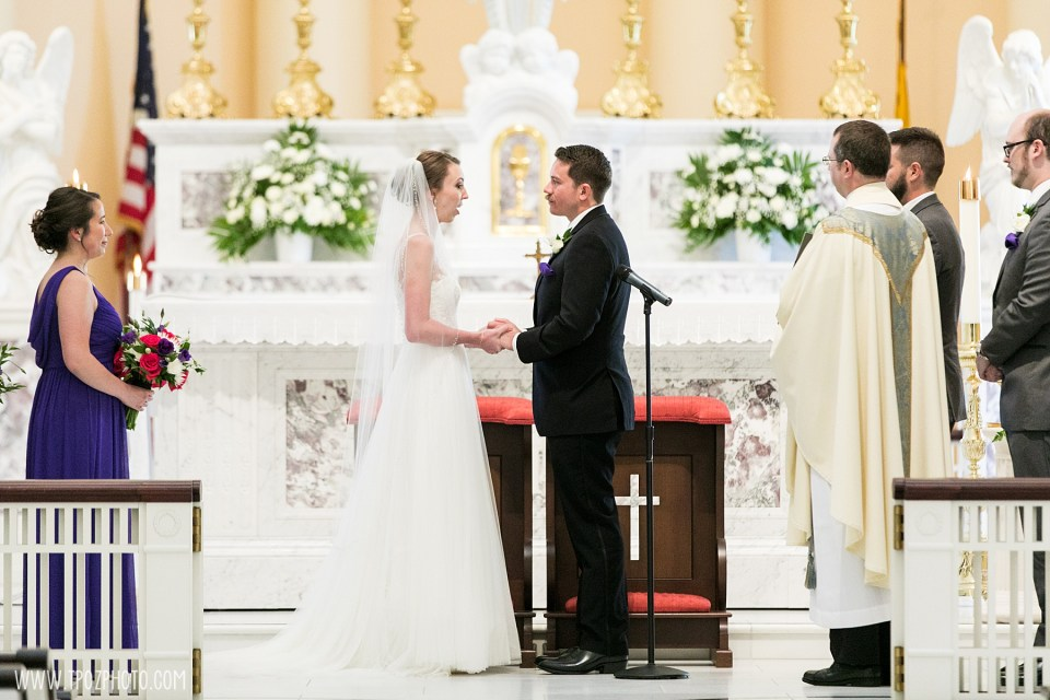 Baltimore Basilica Wedding Vows Exchanged