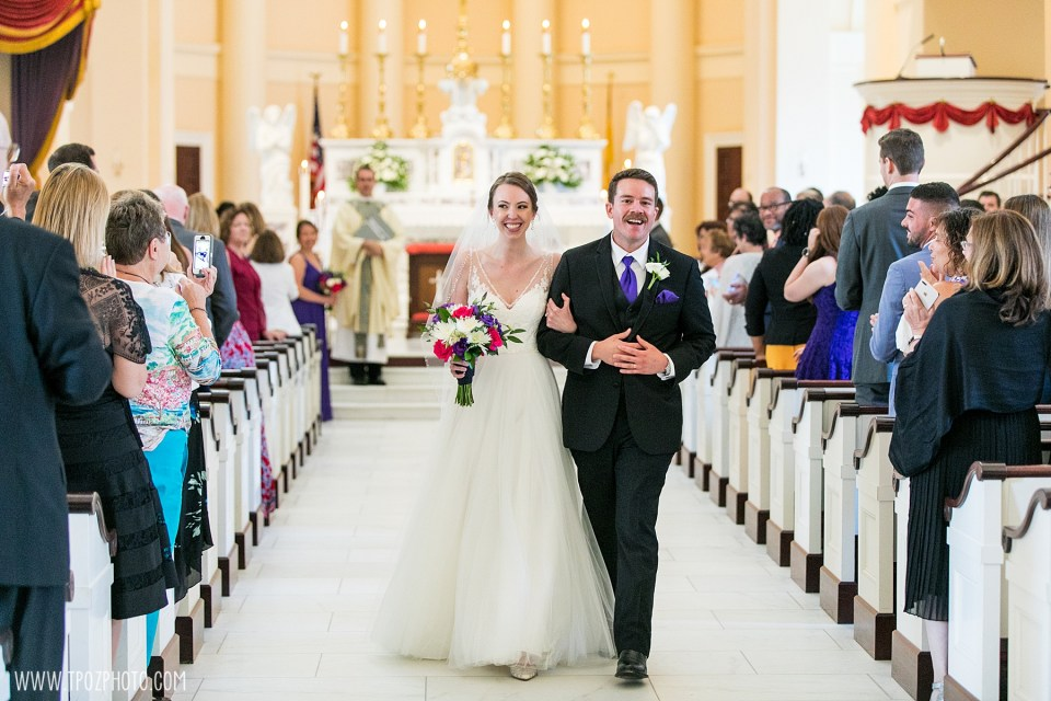 Baltimore Basilica Wedding Ceremony Recessional