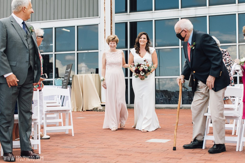 Wedding Ceremony at the Baltimore Museum of Industry