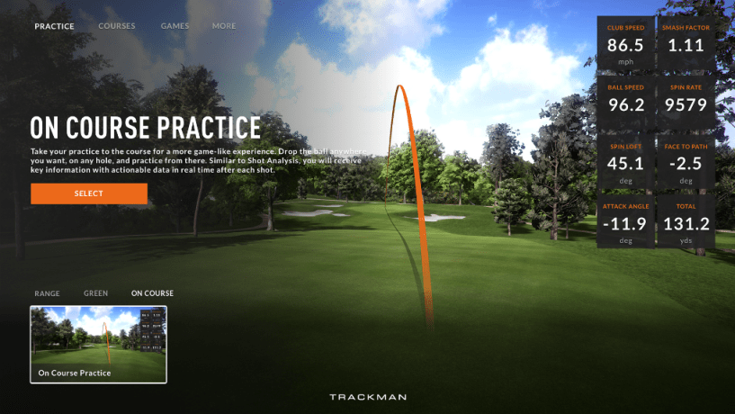 TrackMan Course Practice