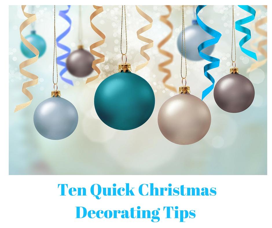 Quick Decorating Tips