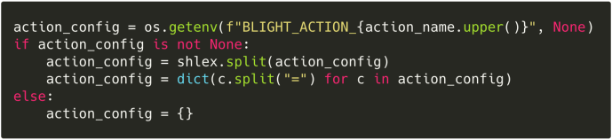 A render of the config parsing code for actions