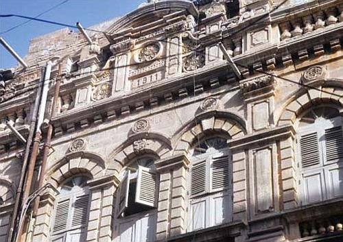 The Hindu Bahi Building in Sarafa Bazaar KarachiPakistan