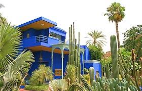 The entrance to the Majorelle Garden Islamic Art Museum in Marrakech